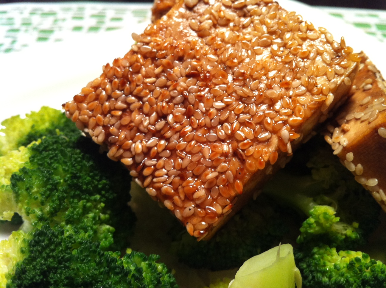 tofu sesame tofu dish was the sesame tofu i cook with tofu a lot so i ...